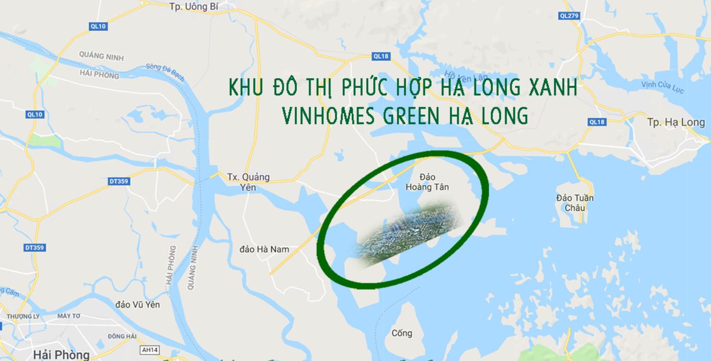 Vị trí của Vinhomes Hạ Long Xanh cực đẹp
